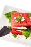 vattenmelon för ostfetasallad Royaltyfri Bild