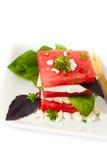 vattenmelon för ostfetasallad Arkivfoto