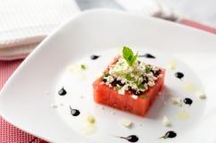Vattenmelon- och fetasallad fotografering för bildbyråer