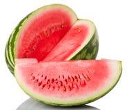 Vattenmelon och skiva Fotografering för Bildbyråer