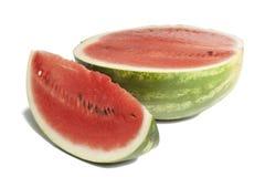 Vattenmelon och skiva av vattenmelon Arkivfoto