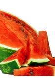 Vattenmelon och skivor Royaltyfria Foton