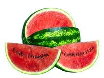 Vattenmelon och två skivor Arkivfoton