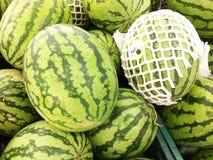 Vattenmelon på den nya marknaden Fotografering för Bildbyråer