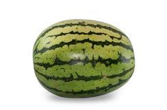 Vattenmelon på vit Arkivfoto