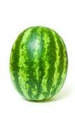Vattenmelon på vit bakgrund Arkivfoton
