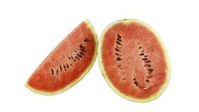 Vattenmelon på vit bakgrund Arkivfoto