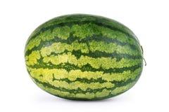 Vattenmelon på vit bakgrund Fotografering för Bildbyråer