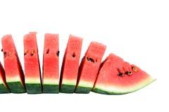 Vattenmelon på vitbakgrund Royaltyfri Foto
