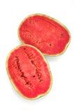 Vattenmelon på vitbakgrund Arkivbilder