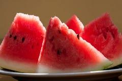 Vattenmelon skivar makrosikt Royaltyfri Bild