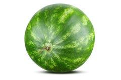 Vattenmelon som isoleras på vit bakgrund, urklippbana royaltyfri foto