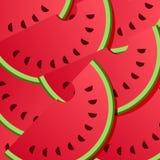 Vattenmelonbakgrundsmodell vektor illustrationer