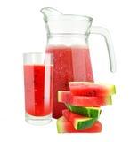 Vattenmelonfruktsaft Arkivfoton