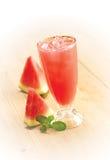 Vattenmelonfruktsaft Fotografering för Bildbyråer