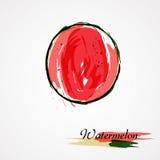 Vattenmelonfruktskiva Royaltyfri Foto