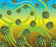Vattenmelonmodellillustration Royaltyfri Bild