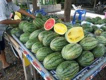 Vattenmelonshow Fotografering för Bildbyråer