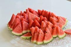 Vattenmelonskivor Arkivfoto