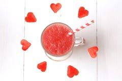 Vattenmelonsmoothies frukt och bär Fotografering för Bildbyråer