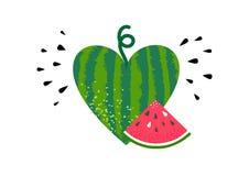 Vattenmelonsommarfrukt vektor illustrationer