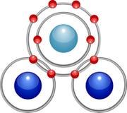 Vattenmolekyl vektor illustrationer