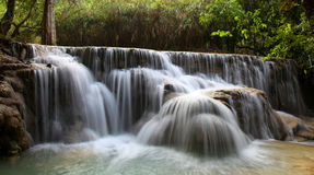 Vattennedgång Luang Prabang Laos Arkivfoto