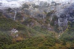 Vattennedgångar i kanalen av Magellan Royaltyfria Bilder