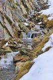 vattennedgångvinter Arkivbild