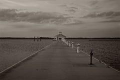 Vattenpaviljong på Chesapeakefjärden i Cambridge Maryland Royaltyfria Foton
