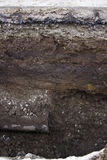 Vattenrör och jordningslager Royaltyfri Fotografi