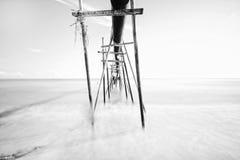 Vattenrör på den Rhu Sepuluh stranden Royaltyfri Fotografi