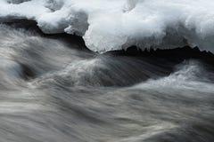 Vattenrörelse och is royaltyfri bild
