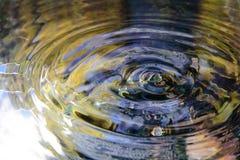Vattenreflexion och vattendroppe Arkivbild