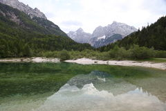 Vattenreflexion Slovenien Arkivfoton