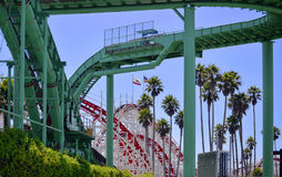 Vattenritt och Rollercoaster Royaltyfria Foton