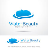 Vattenskönhet Logo Template Design Vector Arkivfoto