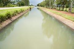 Vattenskenmanöverkanal Arkivbild