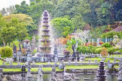 Vattenslott av Tirta Gangga i östliga Bali Arkivbilder