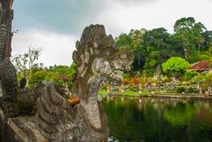 Vattenslott av Tirta Gangga i östliga Bali, Karangasem, Indonesien Royaltyfri Bild