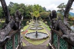 Vattenslott av Tirtaganga i Bali Royaltyfri Fotografi