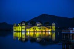 Vattenslott eller Jal Mahal, Jaipur arkivfoto