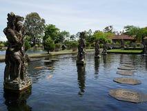 Vattenslott i Bali, Tirthaganga Royaltyfria Bilder