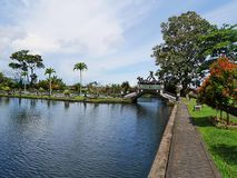 Vattenslott i Bali, Tirthaganga Arkivbilder