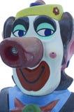 VattenSpitter clown Head Arkivfoto
