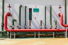 Vattenspridare för brandlarmsystem royaltyfri bild
