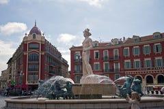 Vattenspringbrunn av apollo i Frankrike royaltyfri fotografi