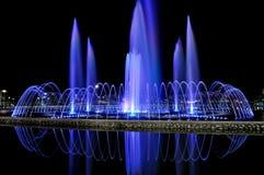 Vattenspringbrunn i Kota Kinabalu Arkivbilder