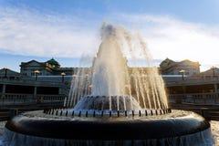 Vattenspringbrunn på baksidan av Harrisburgen, Pennsylvania Royaltyfria Foton