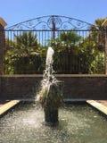 Vattenspringbrunn på Phillip Simmons Park, Daniel Island, charleston, SC arkivbild